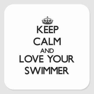 Keep Calm and Love your Swimmer Stickers