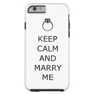 Keep calm and marry me propose iphone 6 case