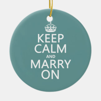 Keep Calm and Marry On Christmas Ornament