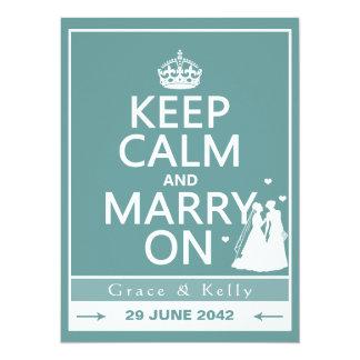 Keep Calm and Marry On Lesbian Wedding Card