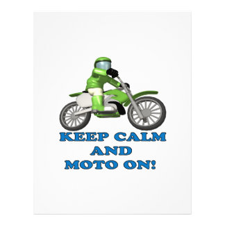 Keep Calm And Moto On Full Color Flyer