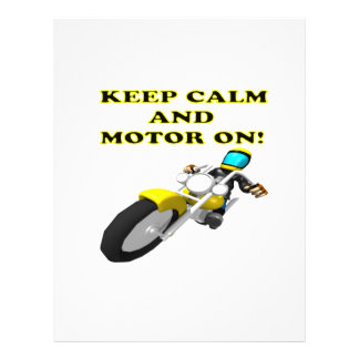 Keep Calm And Motor On Flyers