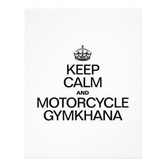 KEEP CALM AND MOTORCYCLE GYMKANA 21.5 CM X 28 CM FLYER