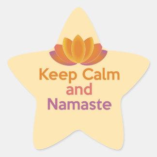 Keep Calm and Namaste - Yoga, Relax, Zen Sticker