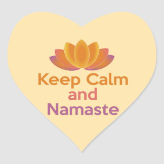 Keep Calm and Namaste - Yoga, Relax, Zen Stickers