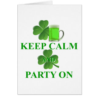 keep calm and party on card