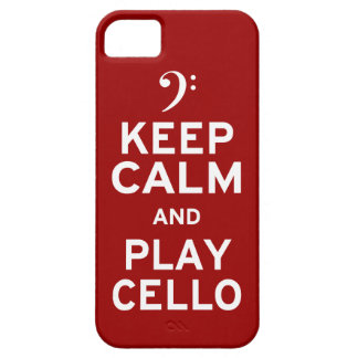 Keep Calm and Play Cello Barely There iPhone 5 Case