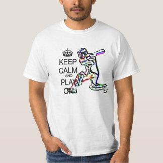 Keep Calm and Play cricket T-Shirt