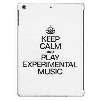 KEEP CALM AND PLAY EXPERIMENTAL MUSIC iPad AIR CASES
