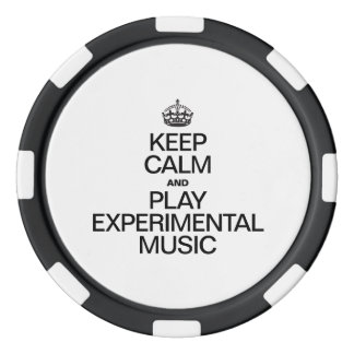 KEEP CALM AND PLAY EXPERIMENTAL MUSIC SET OF POKER CHIPS