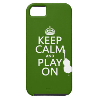Keep Calm and Play On (cello) (any color) Case For The iPhone 5