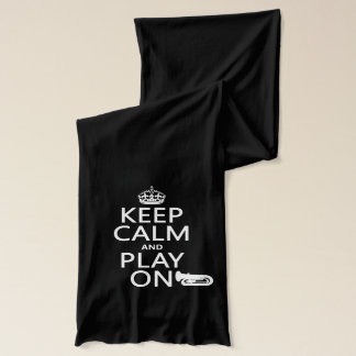 Keep Calm and Play On (tuba)(any background Scarf