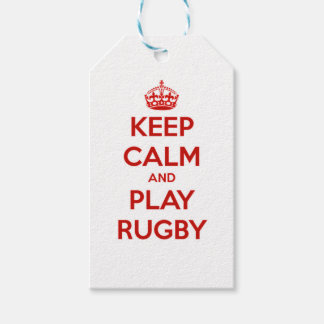Keep Calm And Play Rugby Gift Tags