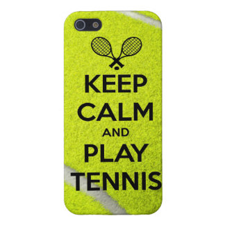 Keep calm and play tennis sport ball racket sports iPhone 5/5S cover
