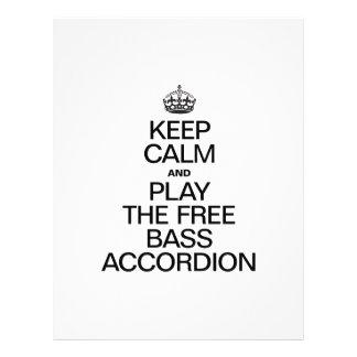 KEEP CALM AND PLAY THE FREE BASS ACCORDION CUSTOM FLYER