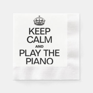 KEEP CALM AND PLAY THE PIANO DISPOSABLE NAPKINS