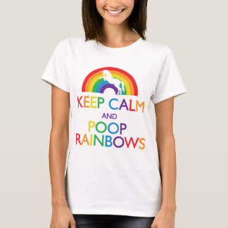 Keep Calm and Poop Rainbows Unicorn T-Shirt