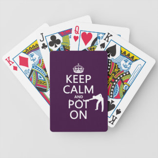 Keep Calm and Pot On (Snooker/Pool) Bicycle Playing Cards