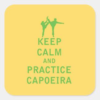 Keep Calm and Practice Capoeira Square Sticker