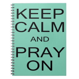 Keep Calm and Pray On Photo Notebook
