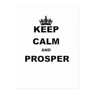 KEEP CALM AND PROSPER.png Postcard
