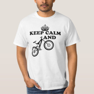 Keep Calm And Ride - Mountain Bikes Tee Shirt