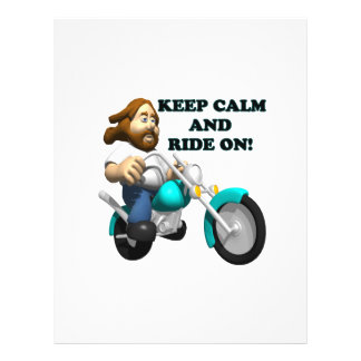 Keep Calm And Ride On 2 Flyer Design