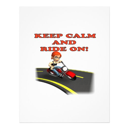 Keep Calm And Ride On 4 Personalized Flyer