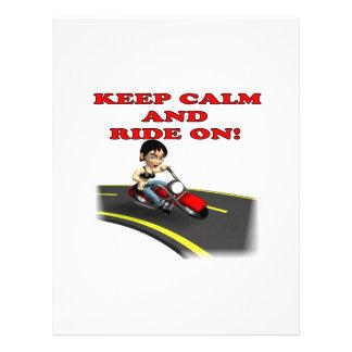 Keep Calm And Ride On 5 Custom Flyer