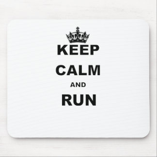 KEEP CALM AND RUN.png Mouse Pad