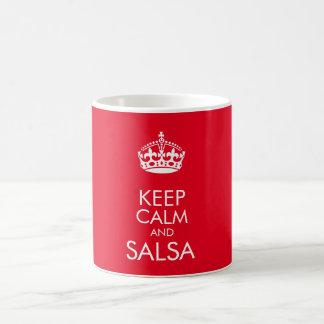Keep calm and salsa - change background colour coffee mug