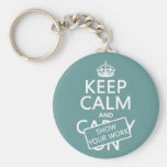 Keep Calm and Show Your Work (any color) Keychains