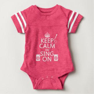 Keep Calm and Sing On (Karaoke) Baby Bodysuit