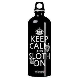 Keep Calm and Sloth On Water Bottle