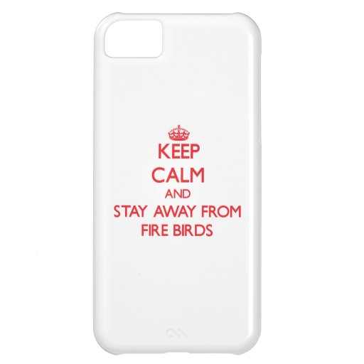 Keep calm and stay away from Fire Birds iPhone 5C Cases