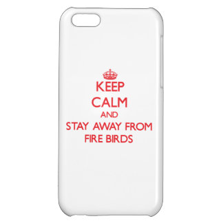 Keep calm and stay away from Fire Birds iPhone 5C Covers