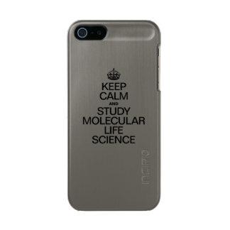 KEEP CALM AND STUDY MOLECULAR LIFE SCIENCE INCIPIO FEATHER® SHINE iPhone 5 CASE