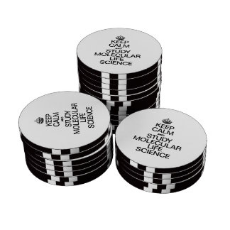 KEEP CALM AND STUDY MOLECULAR LIFE SCIENCE POKER CHIP SET