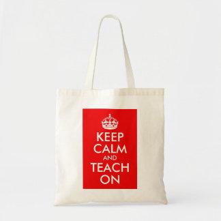 Keep Calm and Teach On Budget Tote Bag