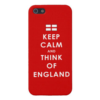 Keep Calm and Think of England iPhone 5 Case