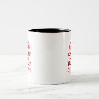 Keep Calm and TRUST Clare Two-Tone Mug