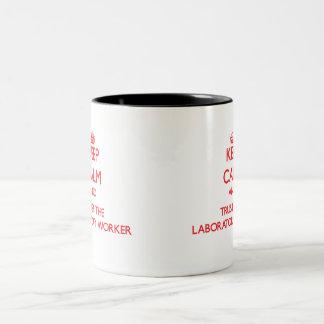 Keep Calm and Trust the Laboratory Worker Two-Tone Coffee Mug