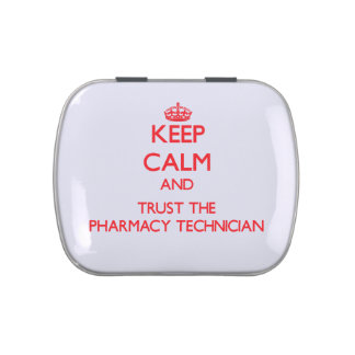 Keep Calm and Trust the Pharmacy Technician Jelly Belly Tin