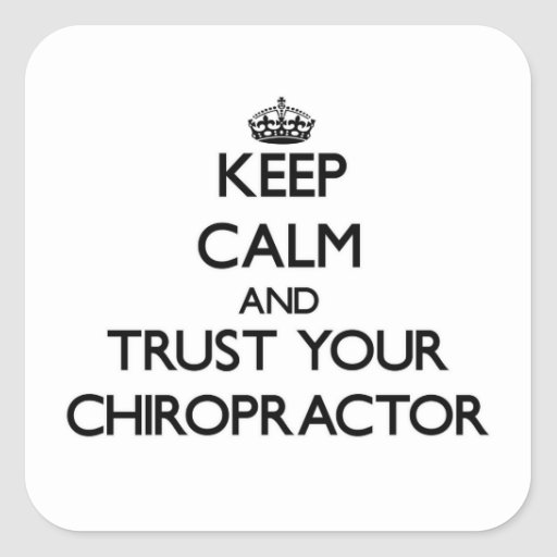 Keep Calm and Trust Your Chiropractor Stickers