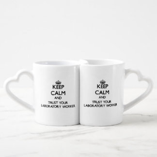Keep Calm and Trust Your Laboratory Worker Couples' Coffee Mug Set