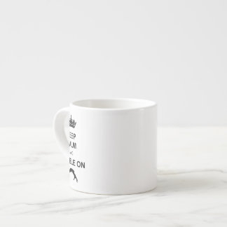 Keep calm and tumble gymnast espresso cup