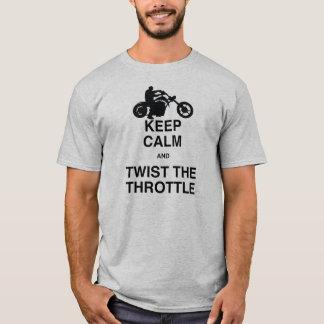 Keep Calm and Twist the Throttle - Chopper/Harley T-Shirt