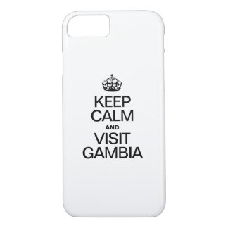 KEEP CALM AND VISIT GAMBIA iPhone 8/7 CASE