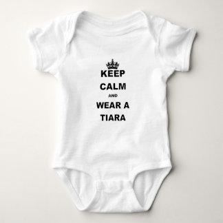 KEEP CALM AND WEAR A TIARA BABY BODYSUIT