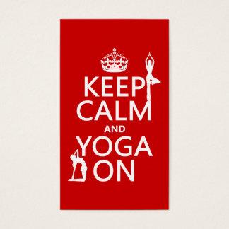 Keep Calm and Yoga On (customise colours) Business Card